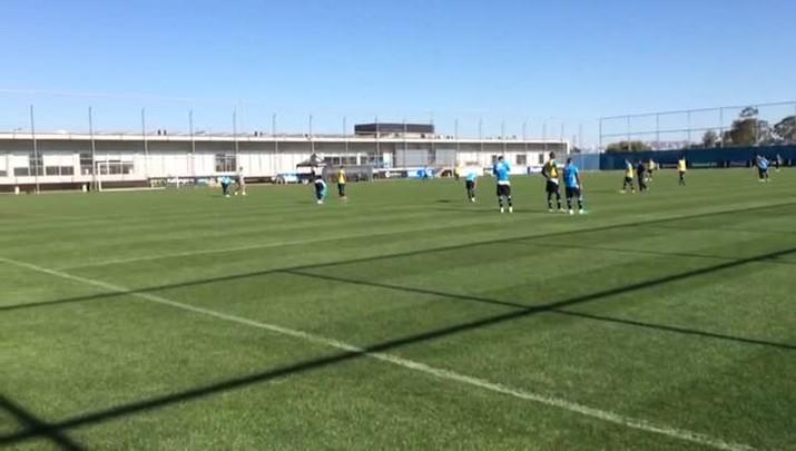 Reservas do Grêmio treinam no CT Luiz Carvalho