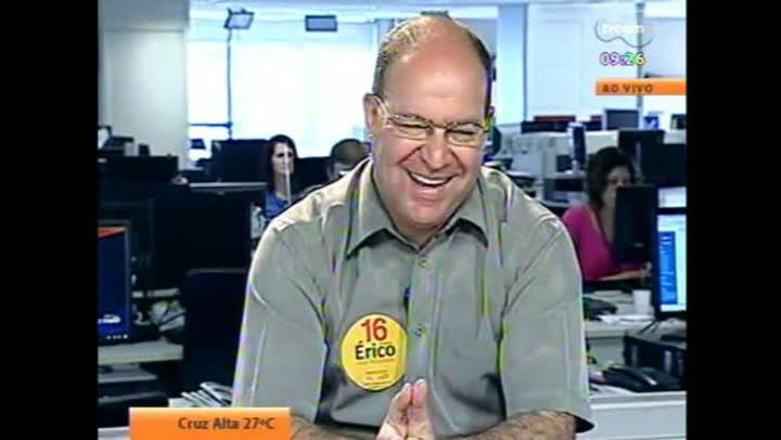 Candidato Érico Corrêa em entrevista à TVCOM
