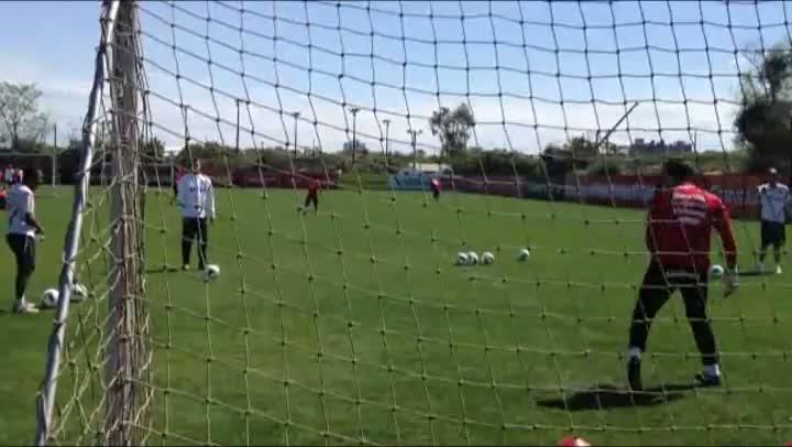 O treinamento dos goleiros do Inter