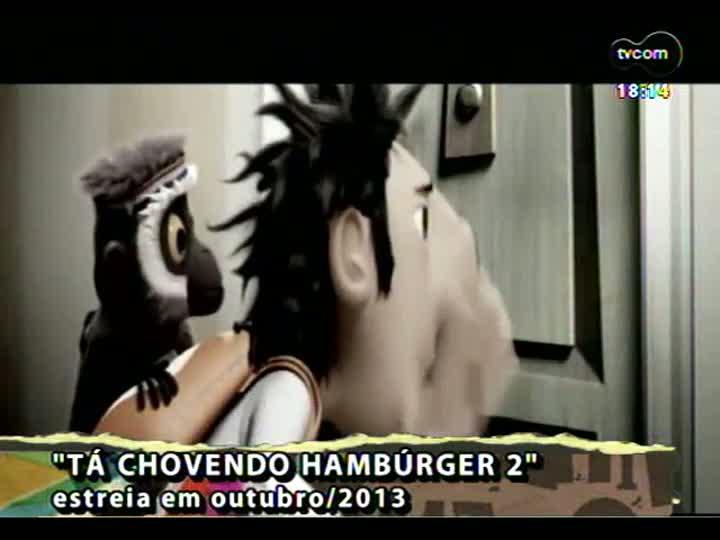 Programa do Roger - Veja o trailer de \'Tá chovendo hambúrguer 2\' e a participação de Lee e os Conectores - bloco 3 - 04/07/2013