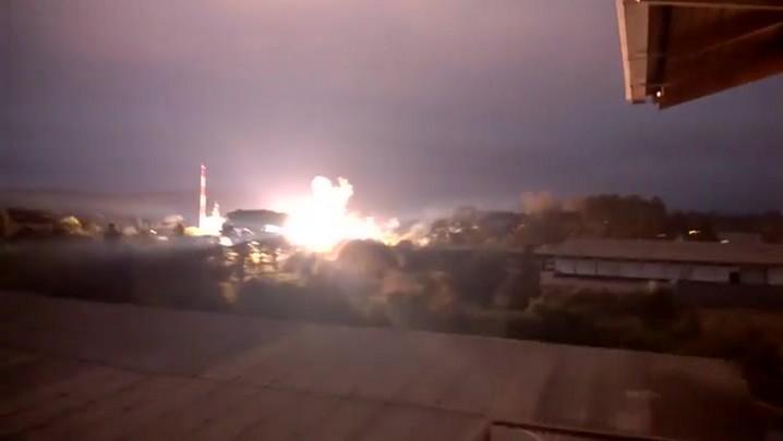 Explosão em transformador da Celesc em Mafra