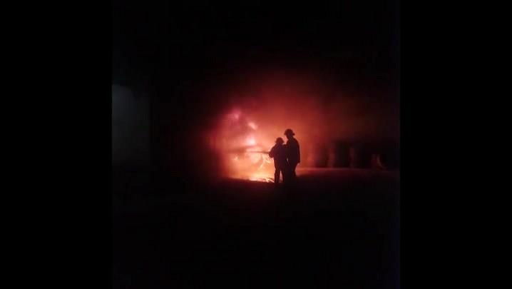 Incêndio em borracharia em São Francisco do Sul