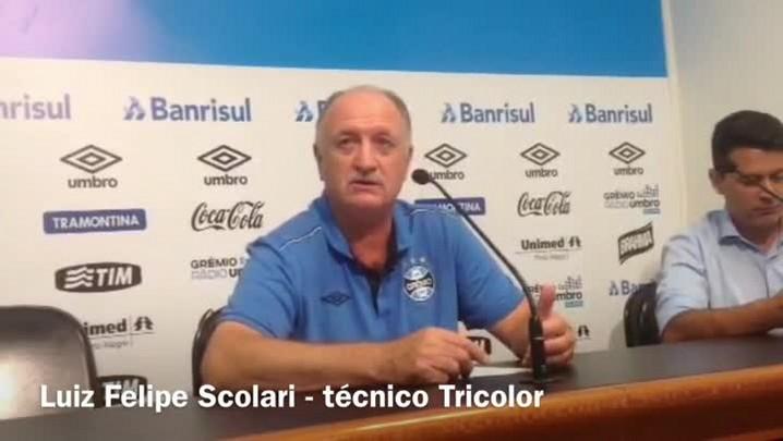 Assista à entrevista coletiva do técnico Felipão. 01/05/2015