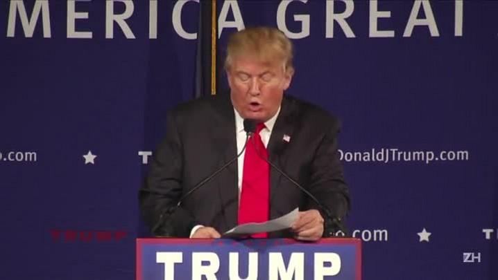 A corrida ambiciosa do polêmico Trump