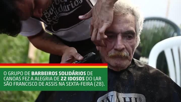 Alunos de barbearia se unem pela solidariedade