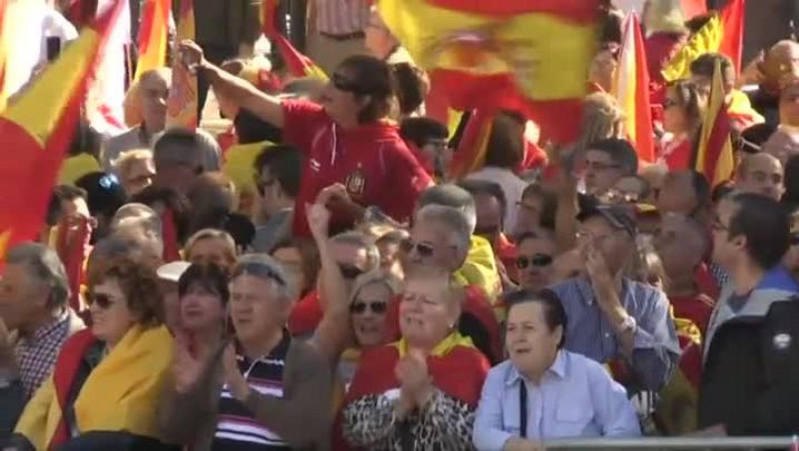 Um milhão de manifestantes pela unidade da Espanha