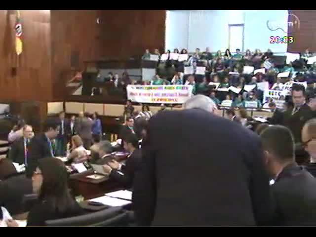 TVCOM 20 Horas - Saiba se a vinda da presidente Dilma ao Estado pode renovar as expectativas do anúncio do metrô de Porto Alegre - Bloco 1 - 08/10/2013