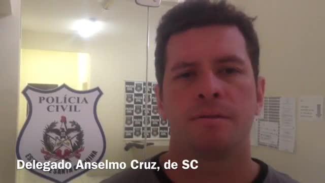 Delegado Anselmo Cruz de SC destaca integração entre as polícias dos três estados do sul para combater ataques a caixas eletrônicos. 31/10/2013