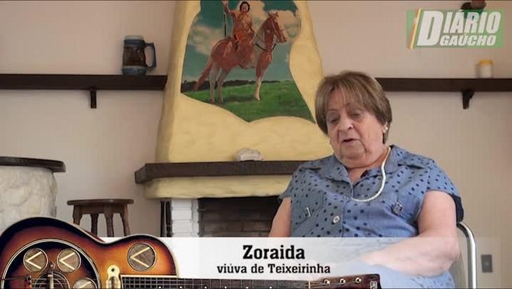 """Estrelando Teixeirinha: \""""Eu sinto muita saudade\"""", relembra dona Zoraida"""