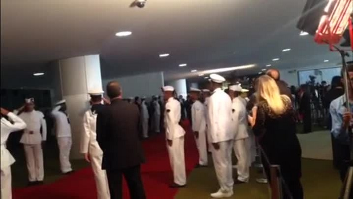 Presidente Dilma Rousseff chega para a cerimônia de posse
