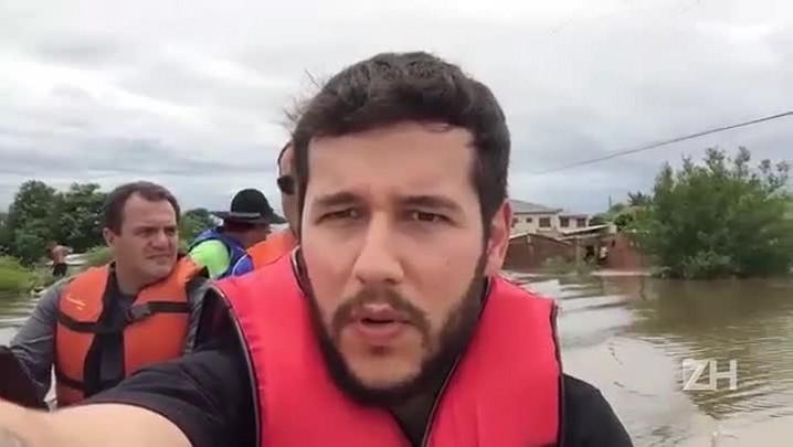 Enchente recorde deixa desabrigados em Quaraí