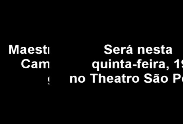 Maestro Tasso Bangel se apresenta no Theatro São Pedro