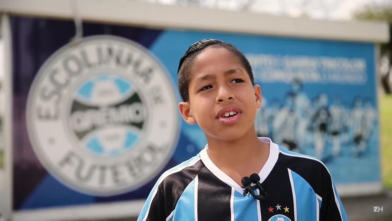 Luiz Eduardo, o guri da foto com Neymar