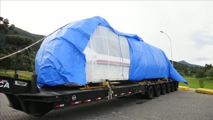 Primeiro veículo do aeromóvel chega ao Estado