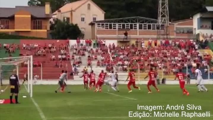 Veja o gol de Soares para o Veranópolis - Veranópolis 1 x 0 Inter - 23/02/2014