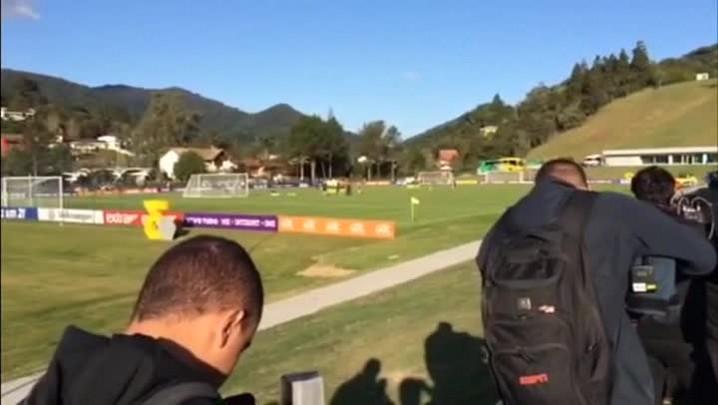 Felipão poupa Neymar e mais seis jogadores de treino desta tarde