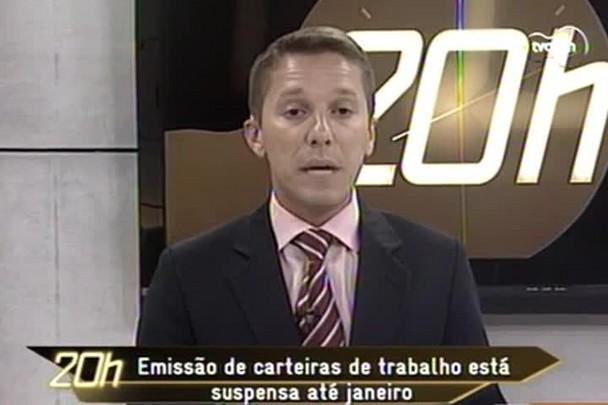 TVCOM 20h - Emissão de carteira de trabalho está suspensa até janeiro - 17.12.14