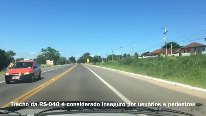 Moradores de Viamão pedem melhorias na sinalização em trecho da RS-040