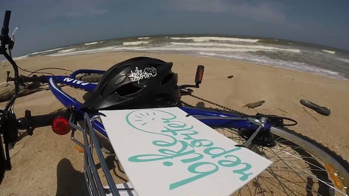 Bike Repórter roda o litoral catarinense durante o verão