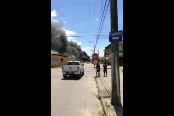 Ônibus incendiado em Joinville