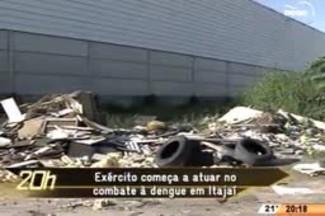 TVCOM 20 Horas - Exército começa a atuar no combate à dengue em Itajaí - 27.05.15