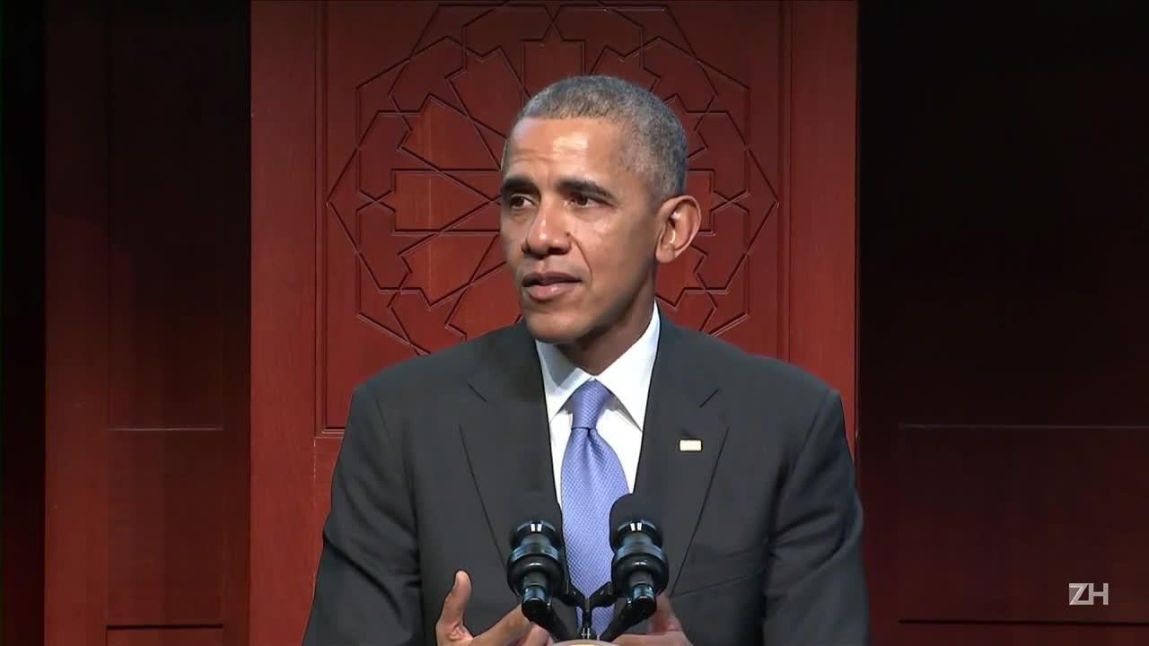 Obama faz visita inédita à mesquita