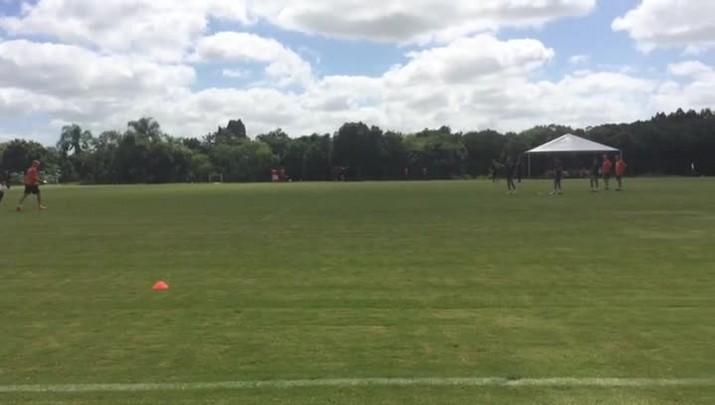 Zago orienta grupo do Inter em treino