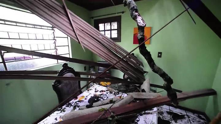 Vídeo: os estragos provocados pelo temporal em Porto Alegre