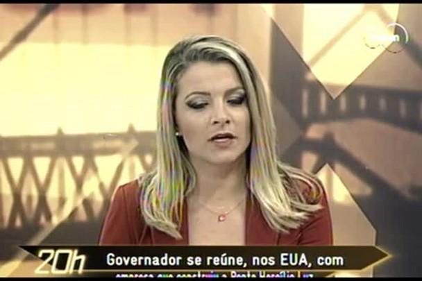 TVCOM 20 Horas - Ponte Hercílio Luz: Governo se reúne nos EUA com empresa que construiu - 12.02.15