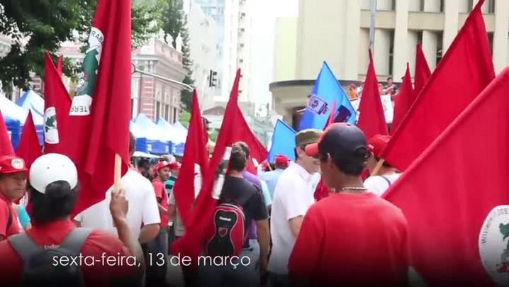 Manifestações marcaram o fim de semana em Florianópolis