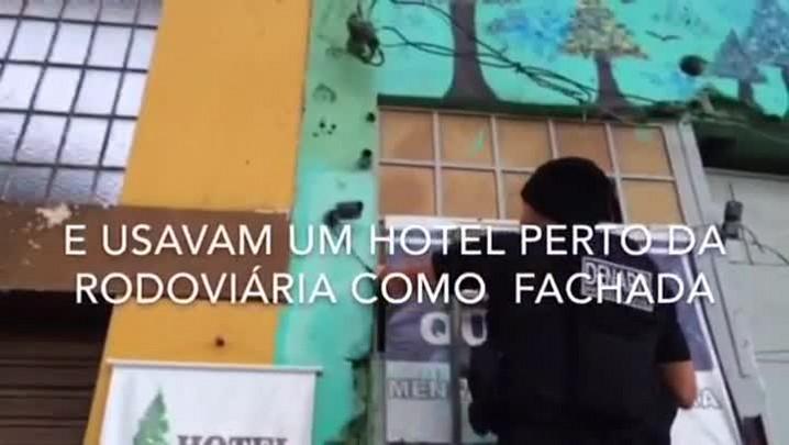 Preso bando que usava hotel e câmeras para traficar drogas no Centro da Capital