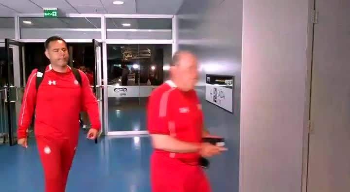 Toluca chega à Arena para treino antes de enfrentar o Grêmio