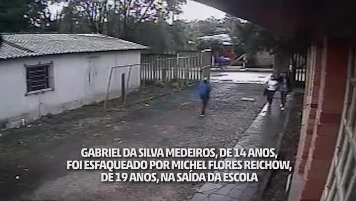 Estudante morre após ser esfaqueado em frente a escola em Santa Maria