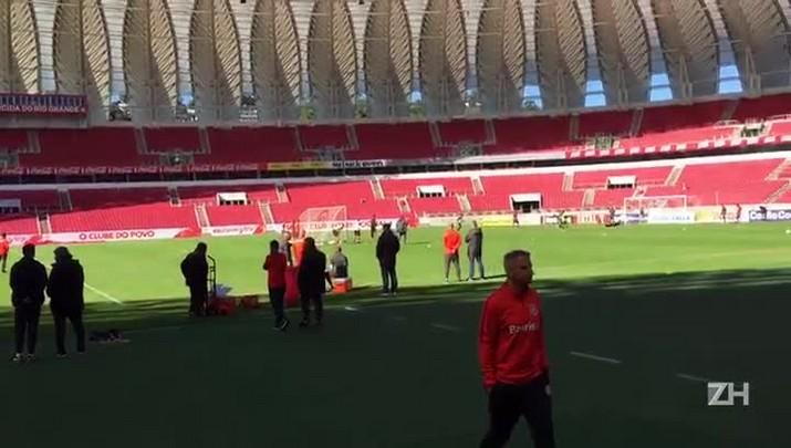 Inter treina no Beira-Rio após vitória sobre o Náutico