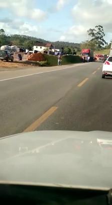 Casal de Jaraguá do Sul fica ferido em acidente na BR-280