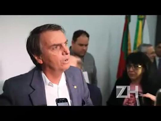 Palestrante em evento em Porto Alegre, Bolsonaro comenta semelhanças com Trump