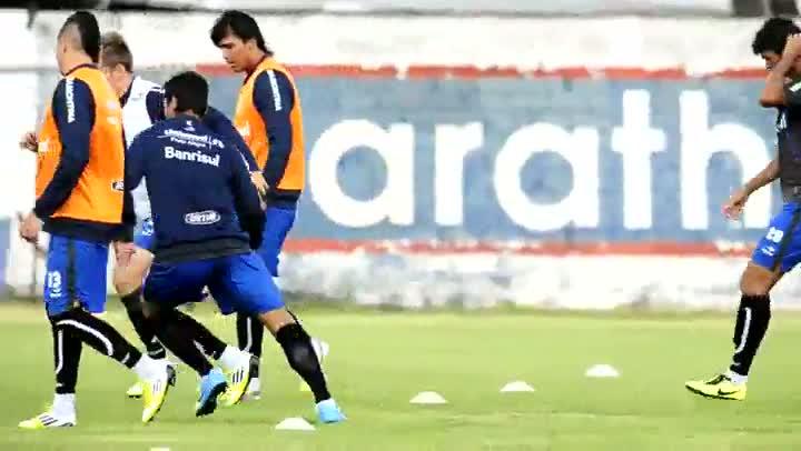 Treino do Grêmio no Equador