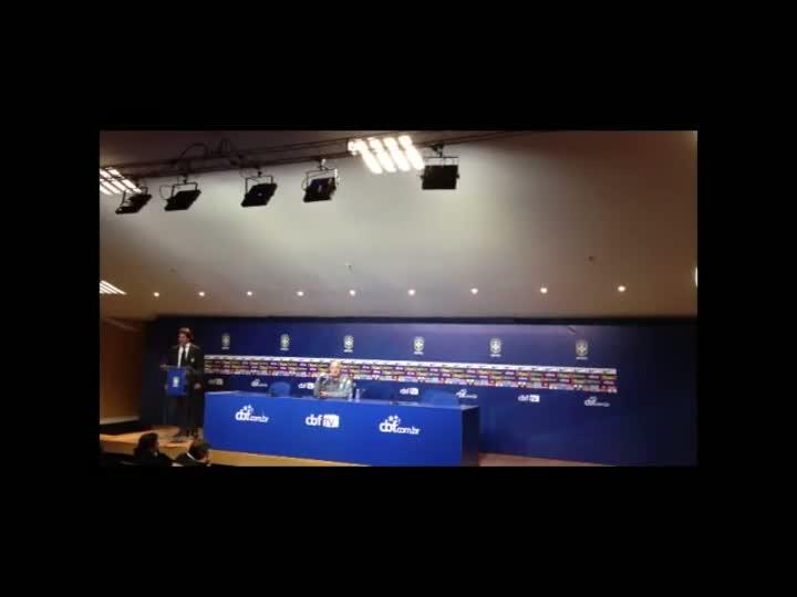 Felipão fala sobre a importância de jogar em Porto Alegre. 09/06/2013