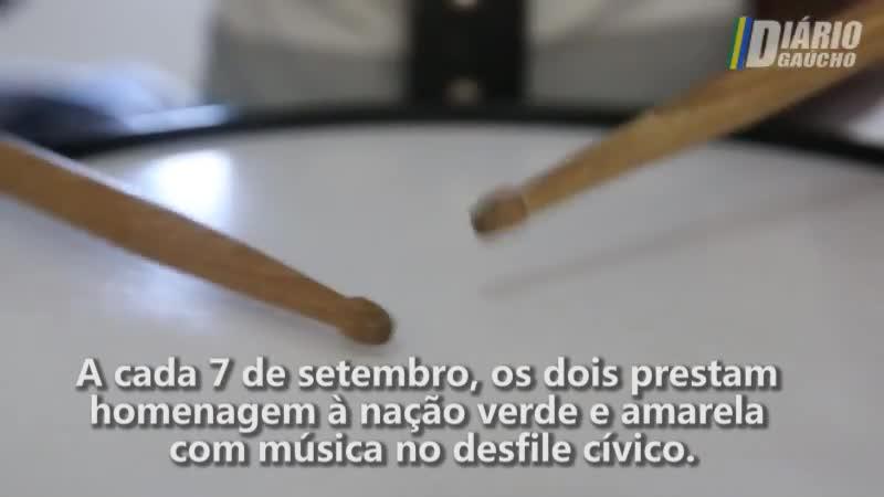 O orgulho da banda marcial da Escola Municipal Araçá, de Viamão