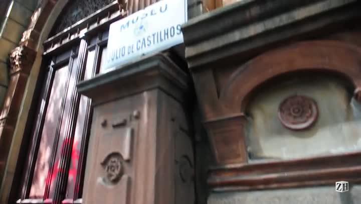 Veja como ficou o museu Júlio de Castilhos após a manifestação