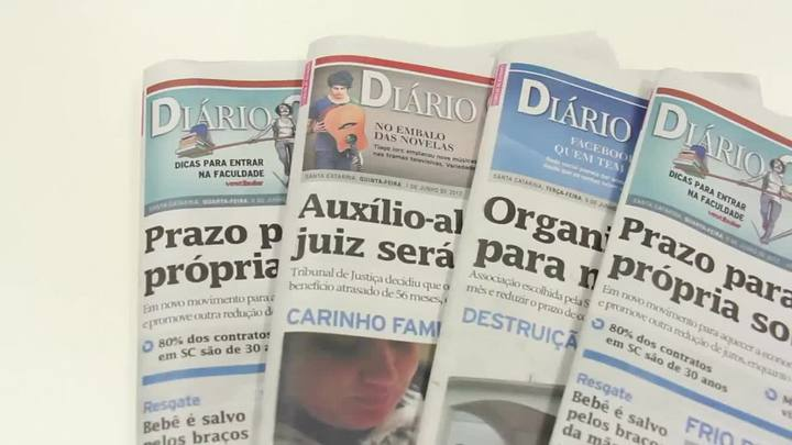 Chamadas Diário Catarinense 01 de fevereiro de 2014