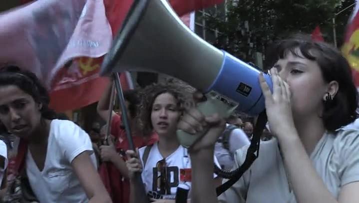 Protesto pró-Dilma e contra Cunha no Rio