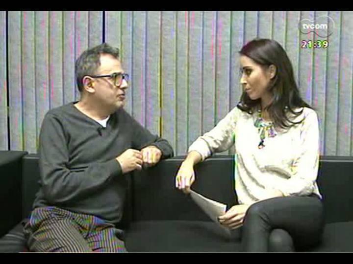 TVCOM Tudo Mais - Repórter Candice Feio bate um papo com Paulo Borges, criador do SP Fashion Week