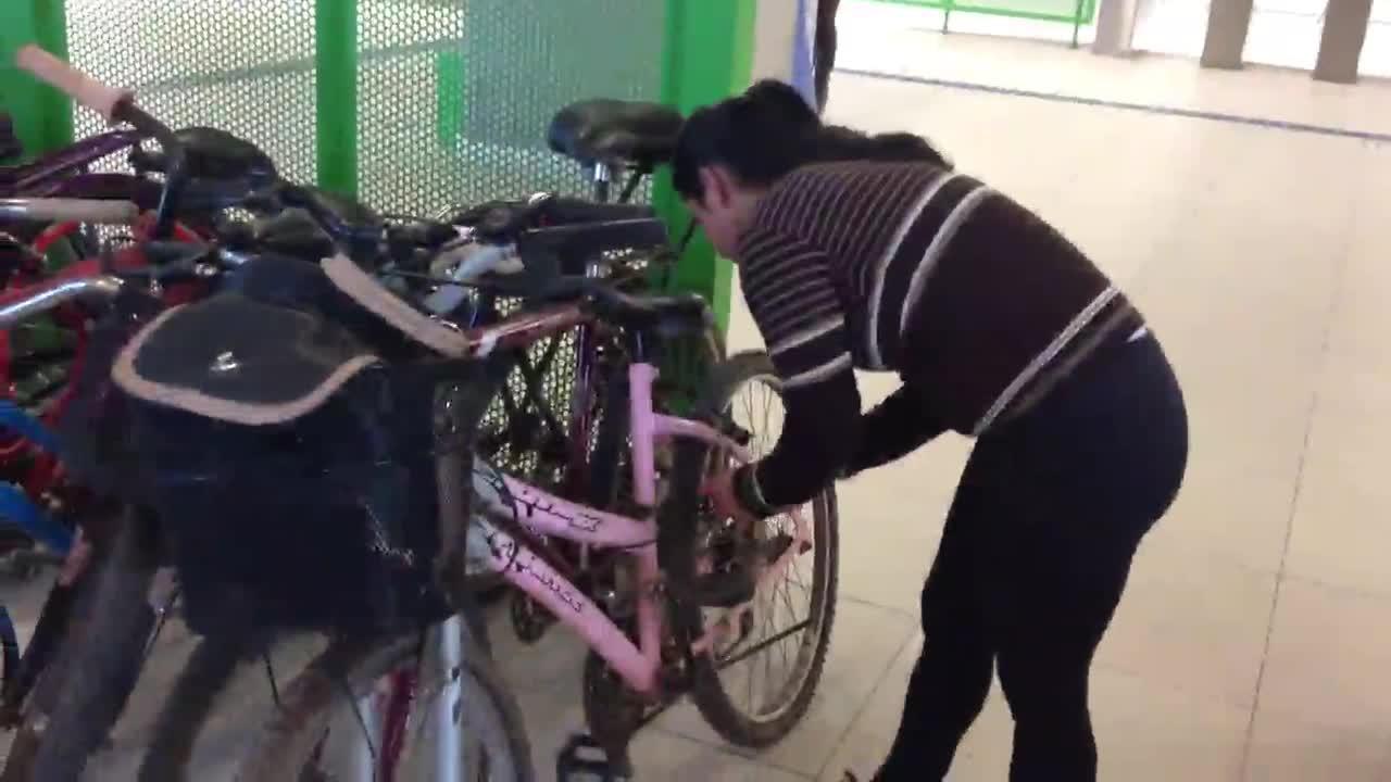 Teste de mobilidade do Gaúcha no Pedal: Évelin Argenta fez o trajeto de trem com bicicleta. 08/10/2013