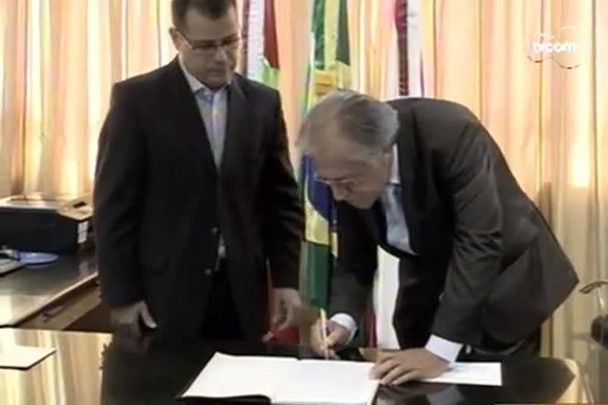 TVCOM 20h - Renato Geske assume como vereador no lugar de César Faria - 16.12.14