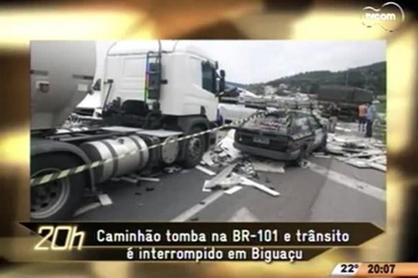 TVCOM 20 Horas - Moradores afetados pelo Contorno Viário, em Palhoça, reclamam do valor de indenização -16.04.15