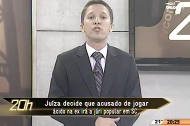 TVCOM 20 Horas - Juíza decide que acusado de jogar ácido na ex irá a júri popular - 18.05.15