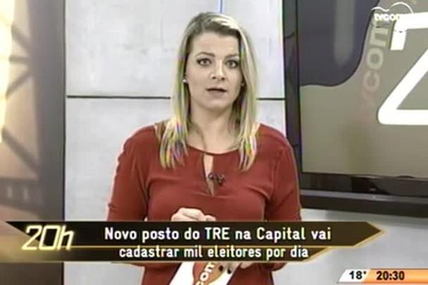 TVCOM 20 Horas - Novo posto do TRE na Capital vai cadastrar mil eleitores por dia - 01.06.15