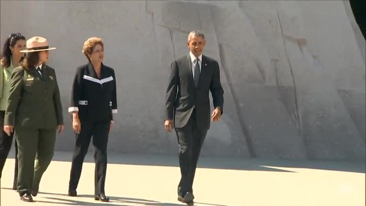 Dilma visita com Obama memorial Martin Luther King