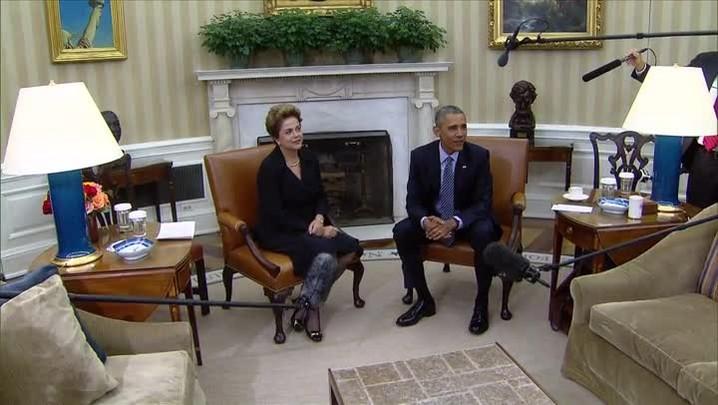 Obama recebe Dilma na Casa Branca